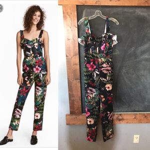 H&M tropical jumpsuit size 6 euc